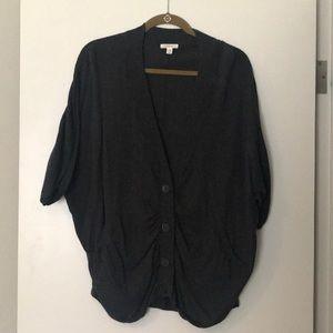 Nordstrom Caslon dark gray button sweater size S/M